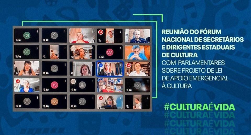 Secretários estaduais de Cultura pedem aprovação da Lei de Emergência Cultural