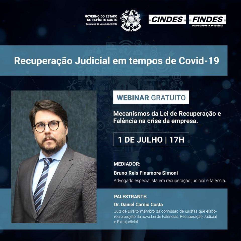 Webinar sobre recuperação judicial em tempos de pandemia continua com inscrições abertas