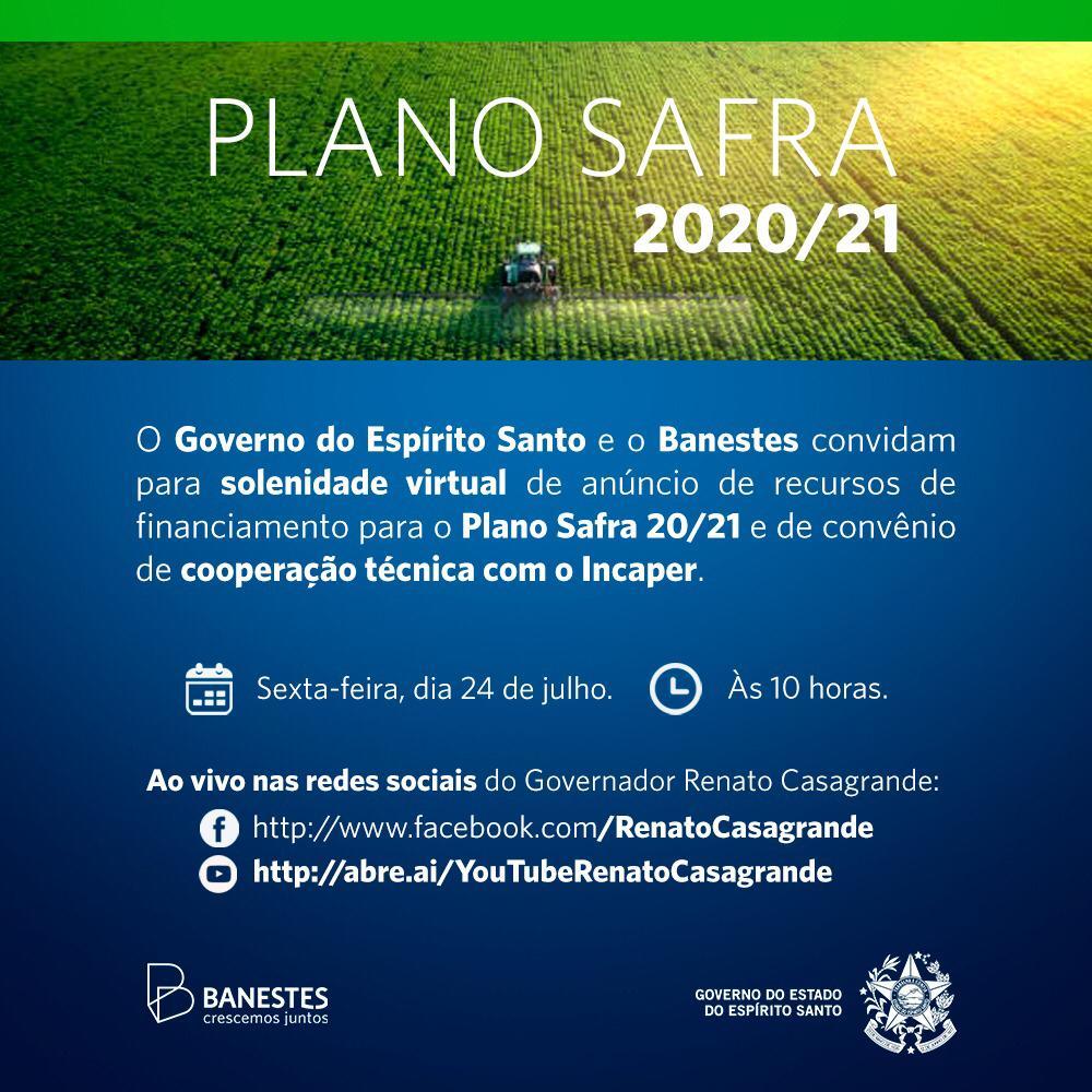 Plano Safra 2020/21: Governo do Estado e Banestes anunciam disponibilização de R$ 200 milhões para crédito rural