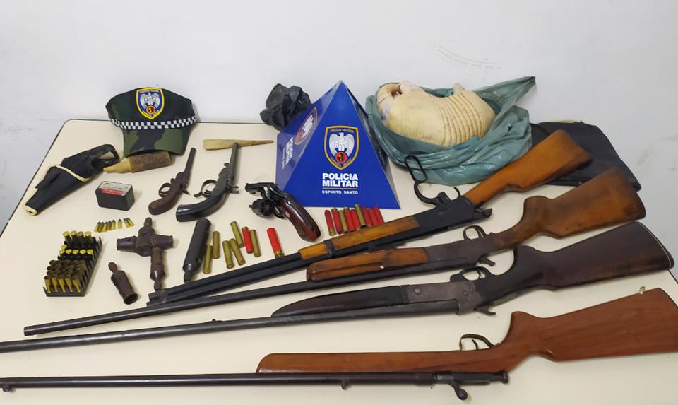 BPMA apreende diversas armas de fogo durante fiscalização contra caça em São Domingos do Norte