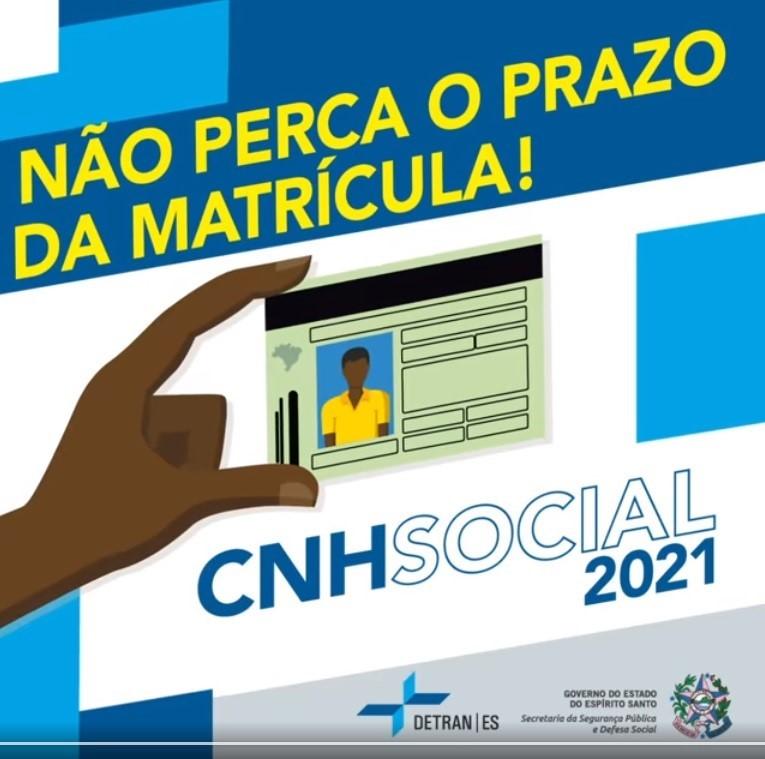 Último dia para matrícula no programa CNH Social