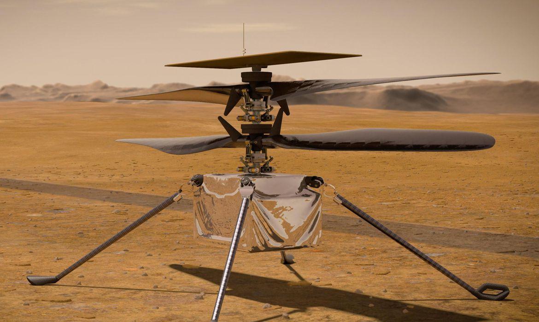"""Helicóptero Ingenuity já """"dormiu"""" sozinho em Marte"""