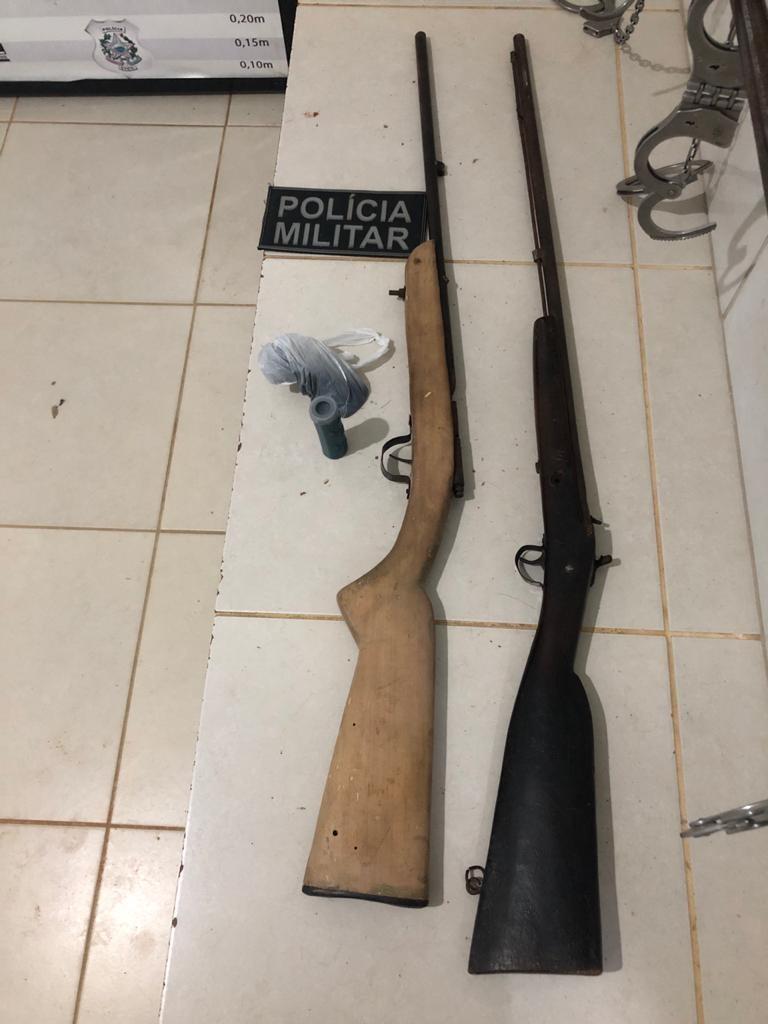 Polícia Militar apreende armas após denuncia via 190