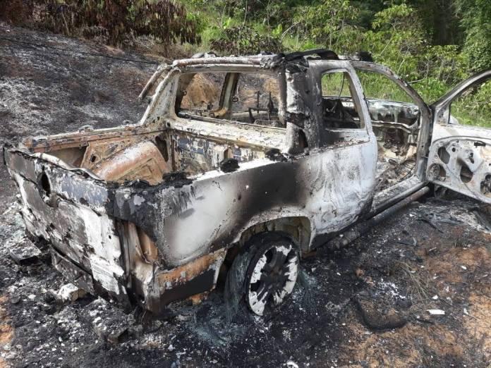 Corpo é encontrado dentro de carro incendiado em Águia Branca
