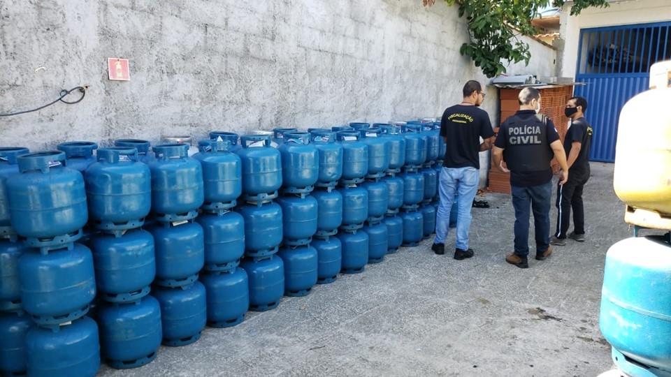 Distribuidora de gás de cozinha é interditada na Serra