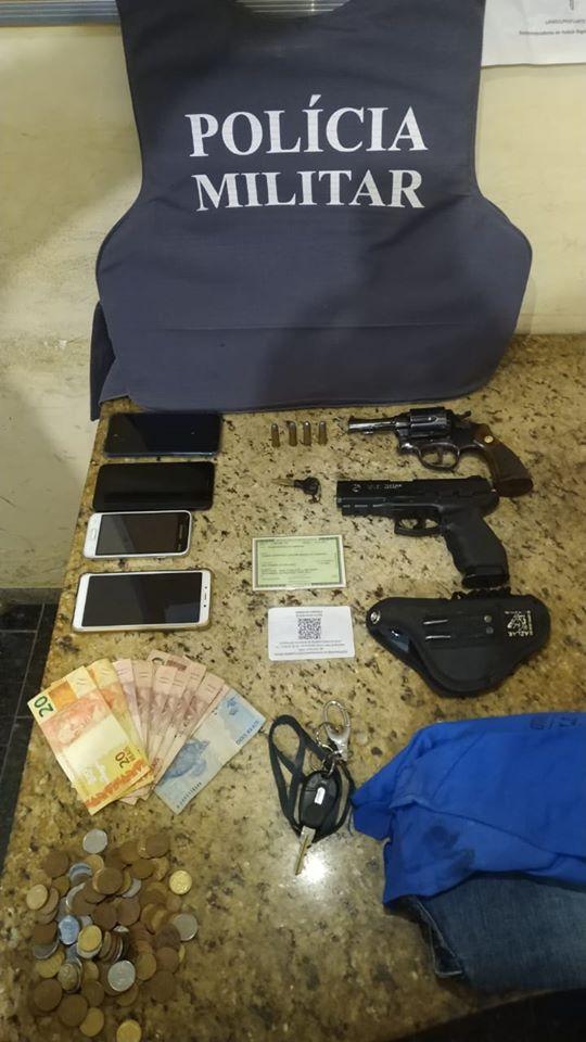 PM prende quadrilha acusada de roubos em São Domingos e região