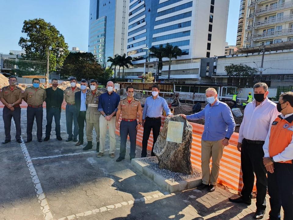 Governo do Estado lança pedra fundamental do Centro de Inteligência da Defesa Civil