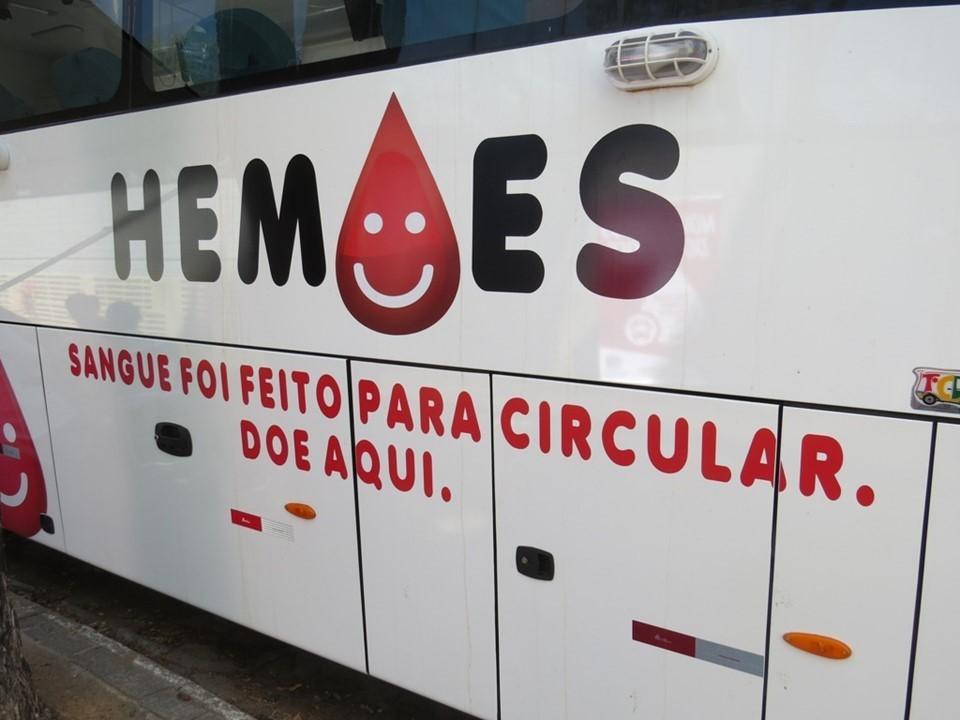 Ônibus de Coleta Externa do Hemoes percorre municípios do Estado durante pandemia