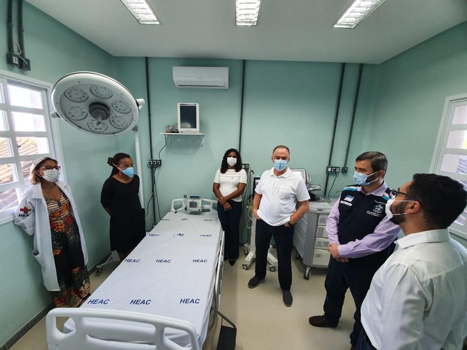 Governo do Estado entrega novos leitos no Hospital Estadual de Atenção Clínica