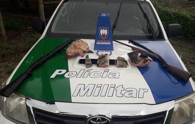 Polícia Ambiental apreende armas, munições e produtos de caça e pesca ilegal em São Mateus e Nova Venécia