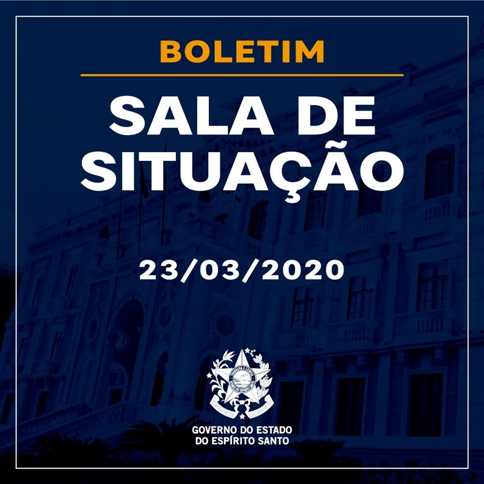 BOLETIM SALA DE SITUAÇÃO – 23/03/2020