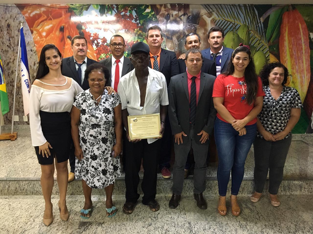 Câmara homenageia personalidade negra em São Domingos