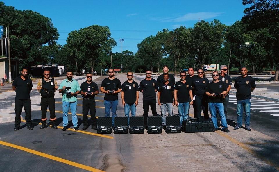 Policiais civis de Aracruz participam de curso de pilotagem de drones