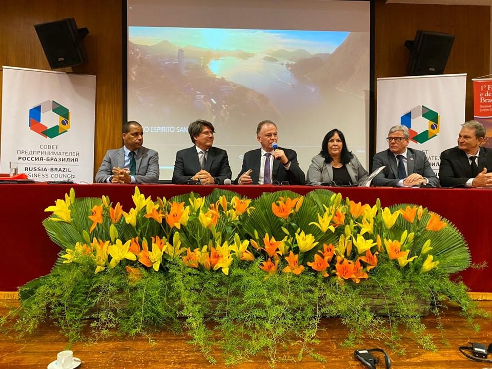 Casagrande ministra palestra durante Fórum Comercial Brasil-Rússia, em Brasília-DF