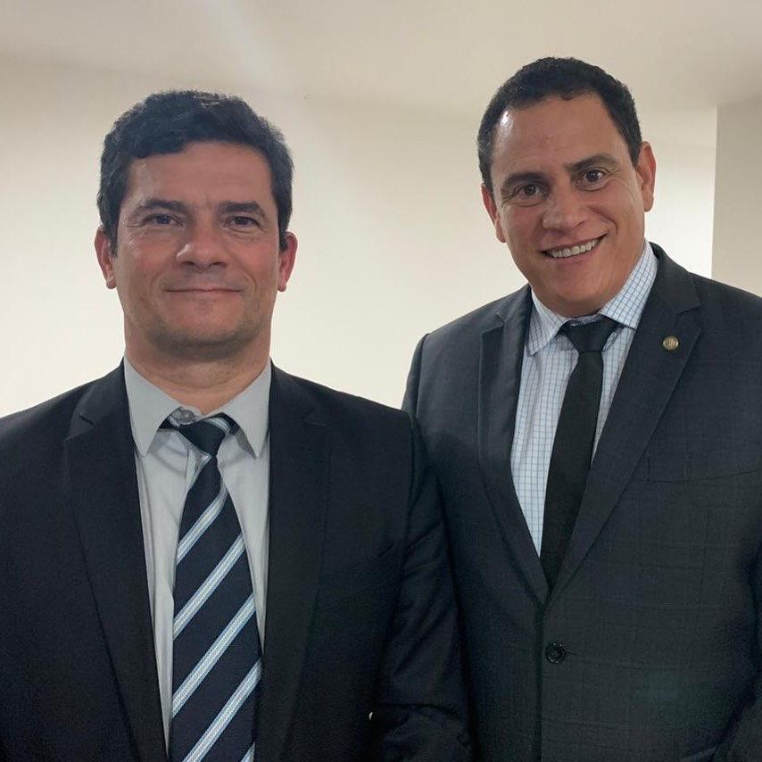 Em reunião com ministro Sérgio Moro, deputado federal Da Vitória reafirma apoio à PEC da prisão em 2ª instância e ao Pacote Anticrime