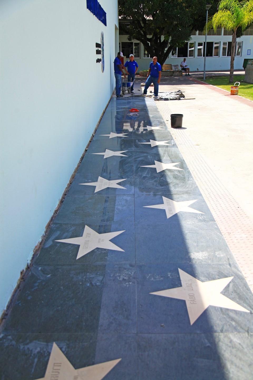 Obras da Calçada da Fama entram na fase final e espaço será inaugurado em março