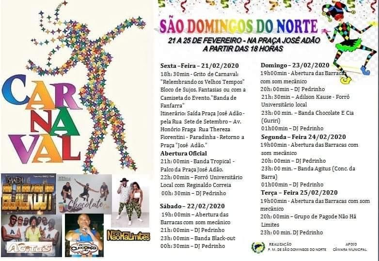 São Domingos terá intensa programação de carnaval