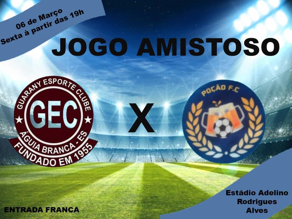 Guarany e Poção se enfrentam hoje (06) em jogo amistoso