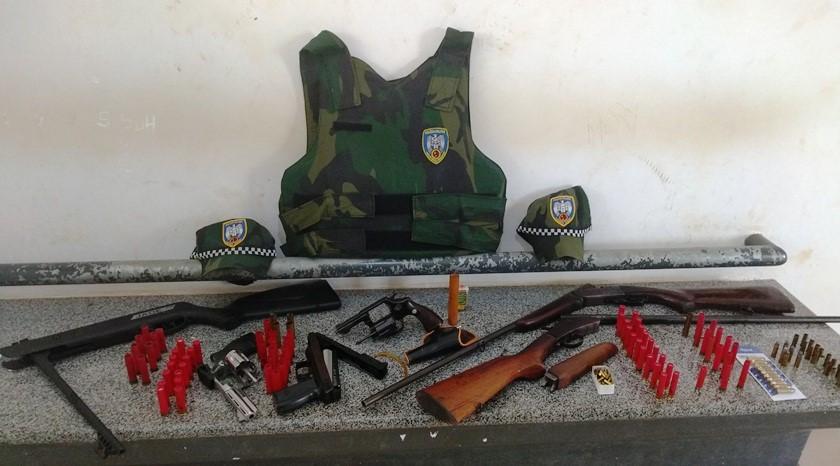 BPMA apreende três armas em São Domingos do Norte