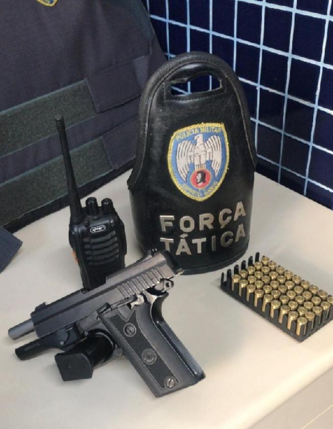 Armas e drogas são apreendidas pela PM em Vila Velha