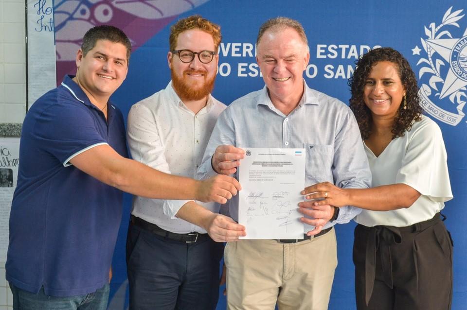 Governo autoriza reforma da quadra da Escola Laranjeiras na Serra