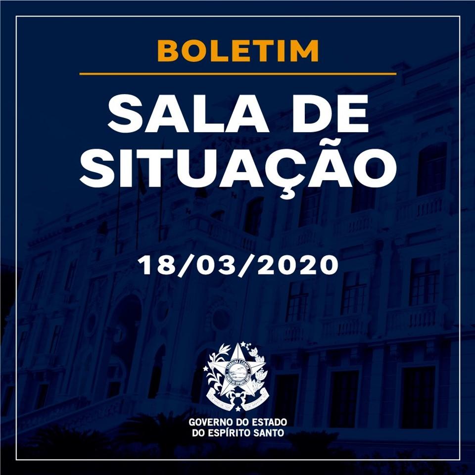 BOLETIM SALA DE SITUAÇÃO – 18/03/2020